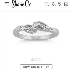 Silver Diamond Promise/ Engagement ring